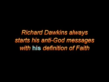 Atheist Richard Dawkins and faith