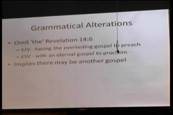 "DBS  – ""The False Teaching of the English Standard Version""  -- Dr. Kirk DiVietro"
