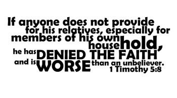 Worse Than an Unbeliever?
