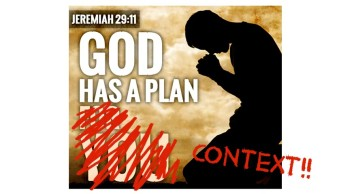 Jeremiah 29:11, a Plan to Prosper You?