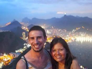 Daniel e Patricia no Brasil