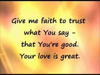 Give Me Faith lyrics video - with singers