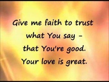 Give Me Faith lyrics video - instrumental