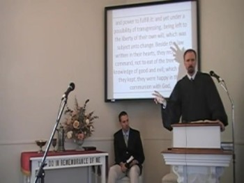 """Testing Adam and Eve,"" WCF 4:2b. Rev. R. Scott MacLaren 9/14/2014"