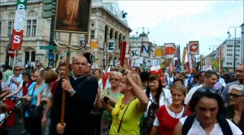 "A colorful ""March for Jesus"" - Vienna, Austria - 2014"