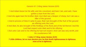 """FALSE """"CHRISTIANS"""" MAKE A MOCK AT SIN: JUST AS CAIN!"""