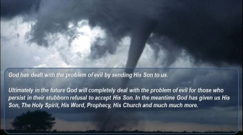 Why doesn't God just do away with evil?
