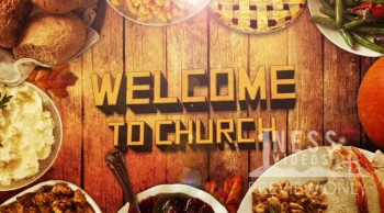 Welcome to Church Thanksgiving Table Motion Background - Oneness Videos