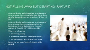 Falling Away or Departing(Rapture)? Rapture Preparation - Dr New Hope