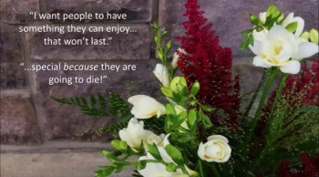 God's World Arranging Heart in a Florist