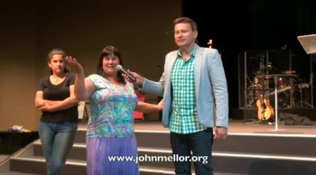 Food allergies healed after 20 years & lady eats chocolate & cakes - John Mellor Healing Evangelist