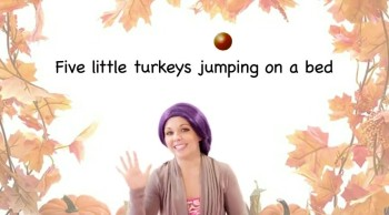 Thanksgiving Songs for Children - Five Little Turkeys - Kids Songs with Lyrics