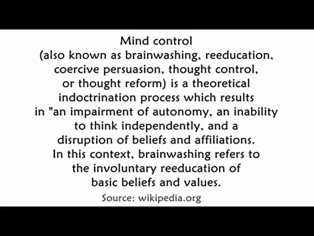Cults Control Minds
