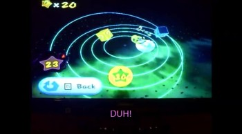 Me playing super mario galaxy
