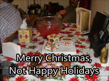 Merry Christmas, Not Happy Holidays (Original) Lyric Slide Show