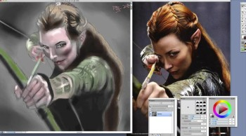 Tauriel the wood elf(speed paint)