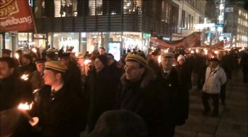 Torch Procession for Persecuted Believers around the World - Vienna, Austria - Dec. 2014