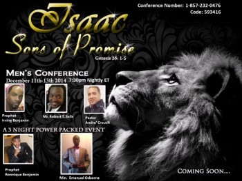 MTN... Presents Isaac Sons of Promise Mens Conference Night 3- Part 1
