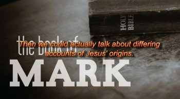 Why does Mark not mention the virgin birth?