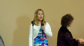 """9 year old sings """"Up to the Mountain"""""""