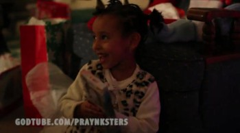 ADORABLE REFUGEE GIRL SURPRISED WITH 1ST CHRISTMAS