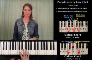 Playing Major and Minor Chords on a Piano by Amy Sobek