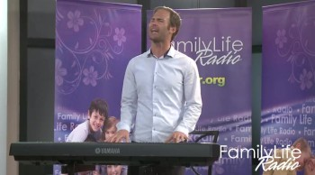 Jared Anderson at the Family Life Radio Music Studio