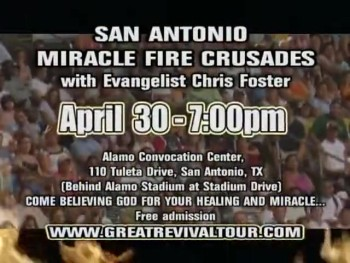 EVANGELIST CHRIS FOSTER / PASTOR CHRIS FOSTER / CHRIS FOSTER MINISTRIES