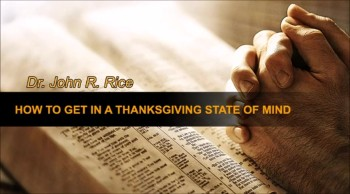 How to Get in a Thanksgiving State of Mind (The Prayer Motivator Devotional #183)