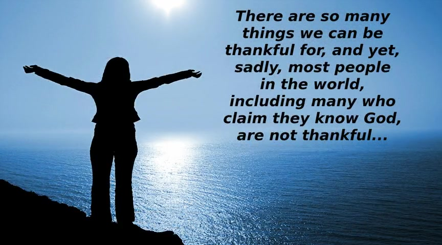 Are We Thankful