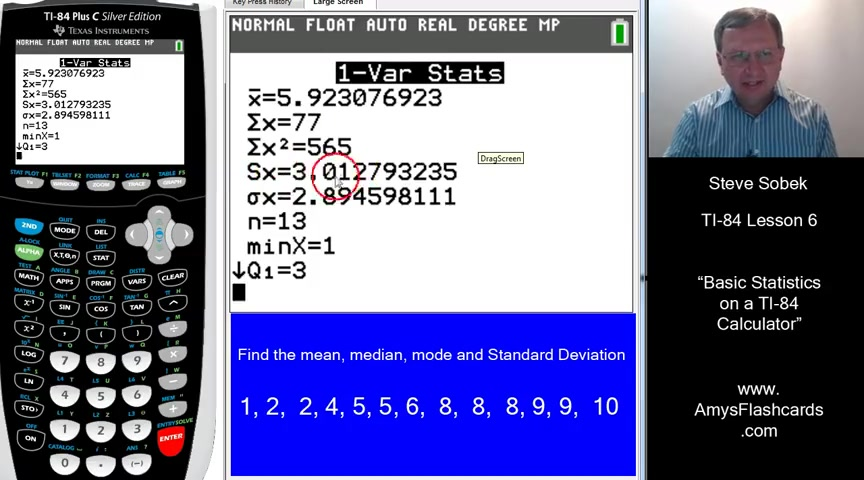 Basic Statistics on a TI-84 Calculator