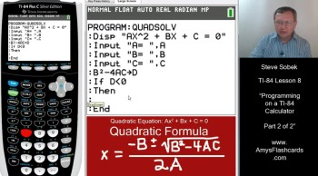 Programming with the TI-84 Calculator - Part 2