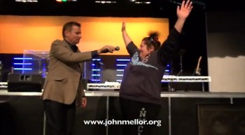Lady crippled with painful osteoarthis healed & no more walking stick - John Mellor Healing Ministry