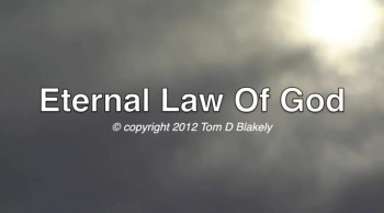 Eternal Law Of God