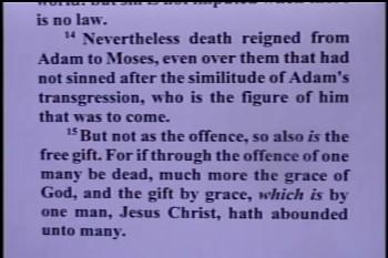 """Part 1 -- """"Adam-Death & Christ-Life"""" – Pastor D. A. Waite – Romans 5:11-21 –  BFTBC"""