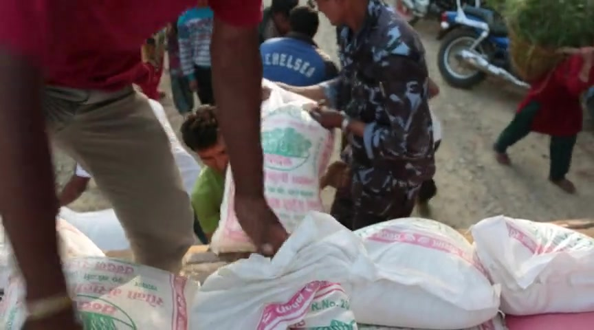 Rushing Food to Nepal Earthquake Victims