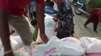 Rushing Food to Nepal Earthquake Victims
