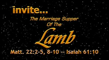 Marriage Supper invite
