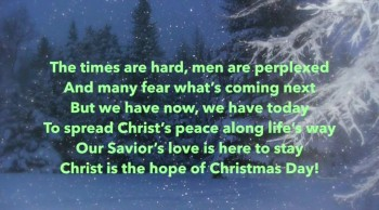 Christ Is The Hope Of Christmas Day!