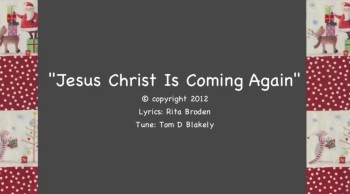 Jesus Christ Is Coming Again