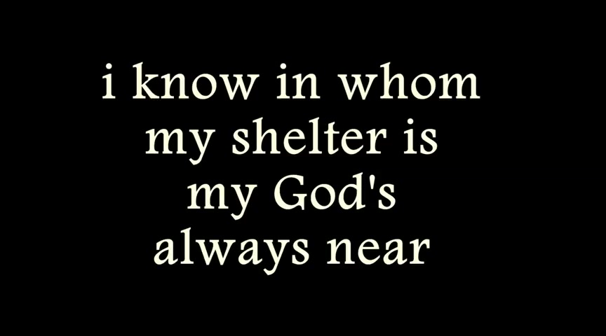 My God's always near