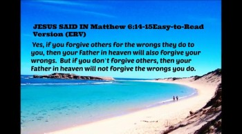 If you forgive