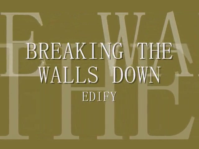 Breaking the walls down