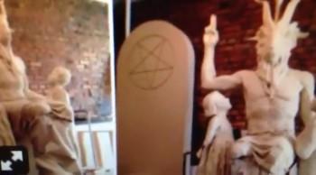 """Baphomet Statue """"Unveiling Detroit"""""""