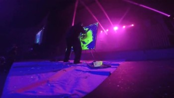 Stickman Speed Painter black light glow paint Youth Camp Performance