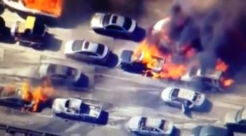 """""""Raging Wildfire"""" California 20 Cars Burn and 5 Homes..."""