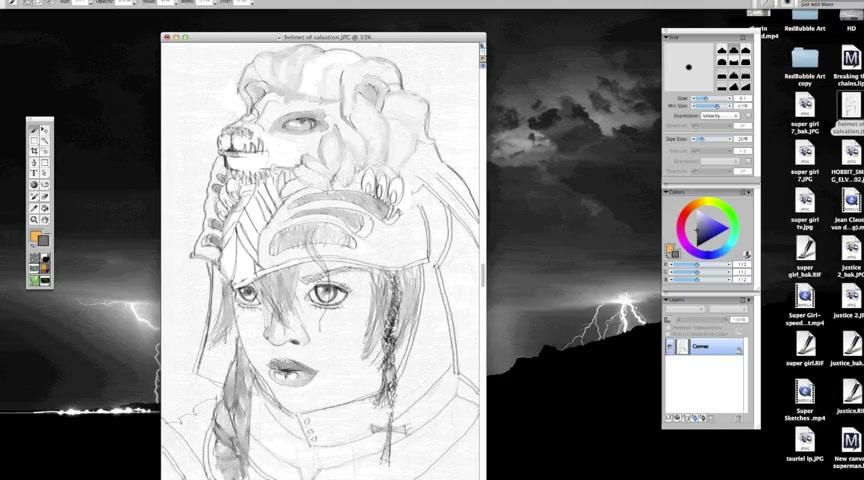 original chaacter - Leanna LionHeart drawing