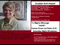Hope by Chaplain Ruth Happel