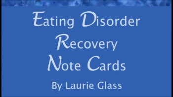 Eating Disorder Recovery Note Cards