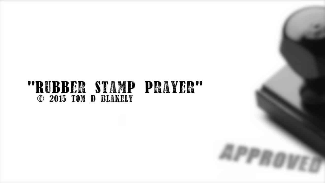 Rubber Stamp Prayer